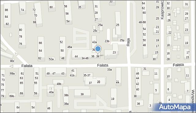 Toruń, Fałata Juliana, 34, mapa Torunia