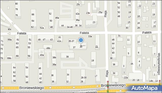 Toruń, Fałata Juliana, 35, mapa Torunia