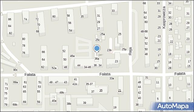 Toruń, Fałata Juliana, 38a, mapa Torunia
