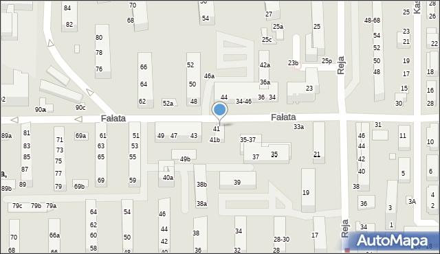 Toruń, Fałata Juliana, 41a, mapa Torunia