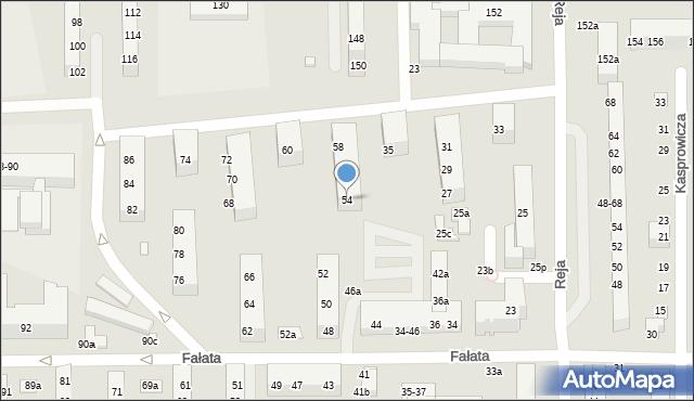 Toruń, Fałata Juliana, 54, mapa Torunia