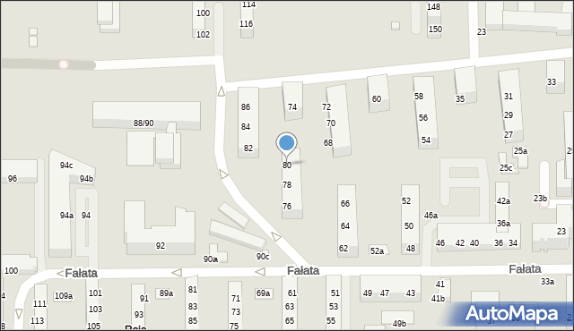 Toruń, Fałata Juliana, 80, mapa Torunia