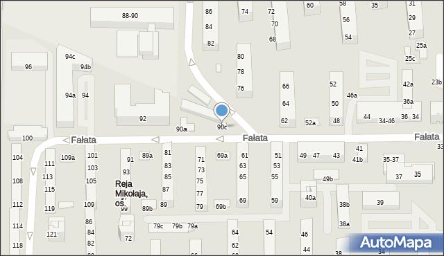 Toruń, Fałata Juliana, 90c, mapa Torunia
