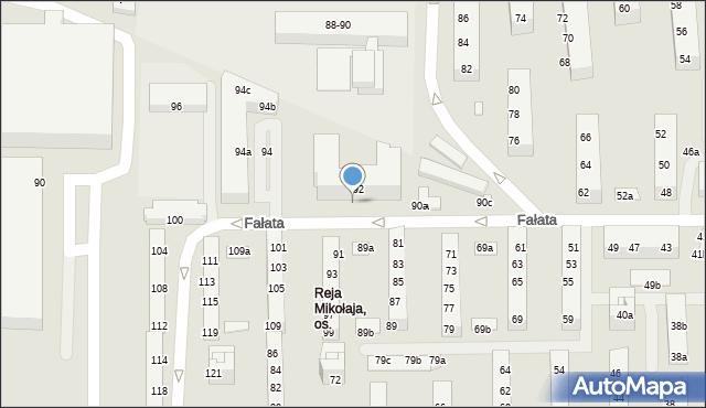 Toruń, Fałata Juliana, 92-92D, mapa Torunia
