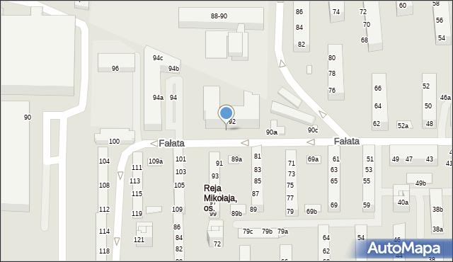 Toruń, Fałata Juliana, 92a, mapa Torunia