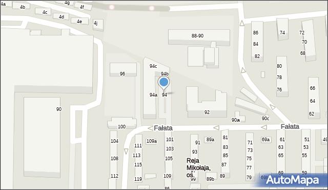 Toruń, Fałata Juliana, 94, mapa Torunia