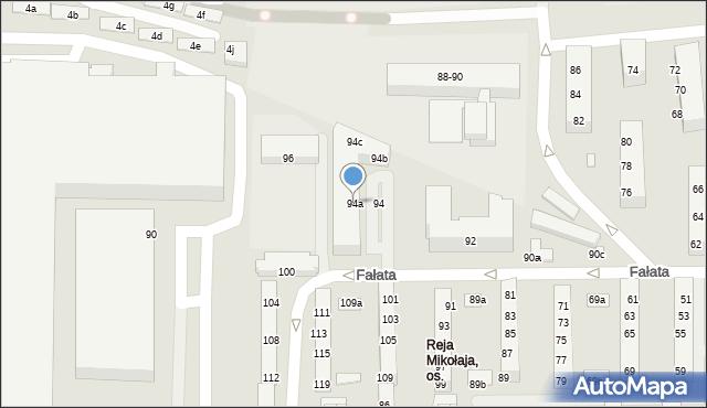 Toruń, Fałata Juliana, 94a, mapa Torunia