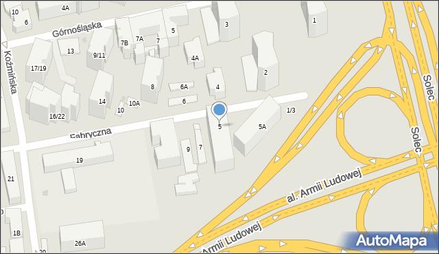 Warszawa, Fabryczna, 5, mapa Warszawy