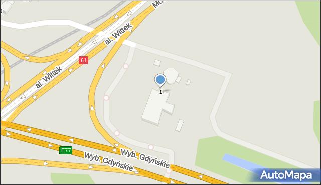 Warszawa, Farysa, 1, mapa Warszawy