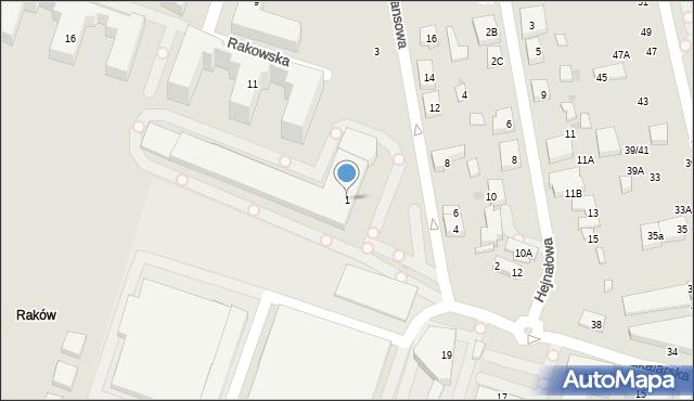 Warszawa, Fajansowa, 1, mapa Warszawy