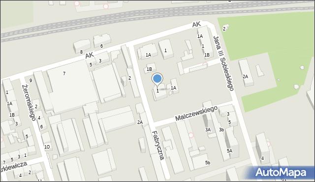 Zabrze, Fabryczna, 1, mapa Zabrza