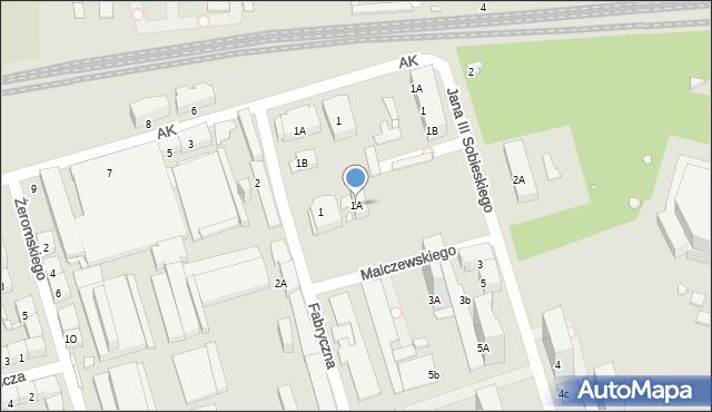 Zabrze, Fabryczna, 1A, mapa Zabrza