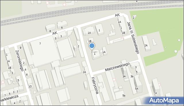Zabrze, Fabryczna, 1b, mapa Zabrza