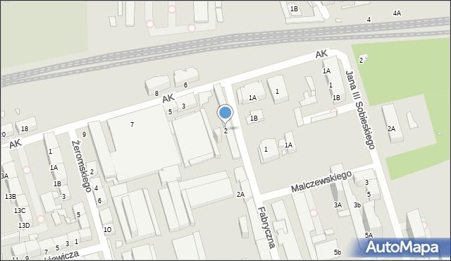 Zabrze, Fabryczna, 2, mapa Zabrza