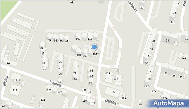 Bytom, Felińskiego Alojzego, 107, mapa Bytomia