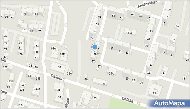 Bytom, Felińskiego Alojzego, 29, mapa Bytomia