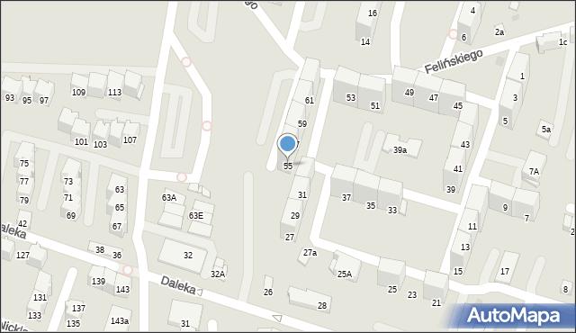 Bytom, Felińskiego Alojzego, 55, mapa Bytomia
