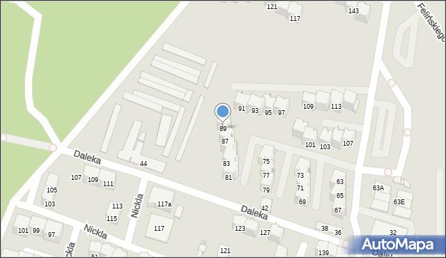 Bytom, Felińskiego Alojzego, 89, mapa Bytomia