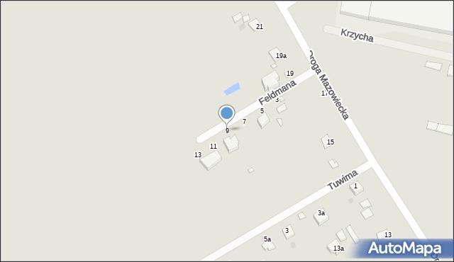 Grudziądz, Feldmana Jerzego, 9, mapa Grudziądza