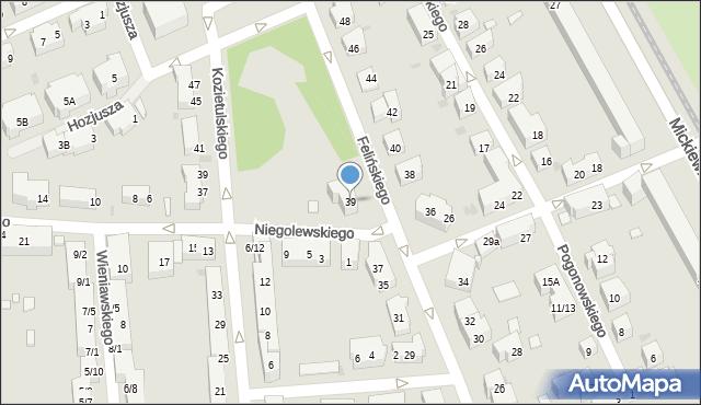 Warszawa, Felińskiego Alojzego, 39, mapa Warszawy