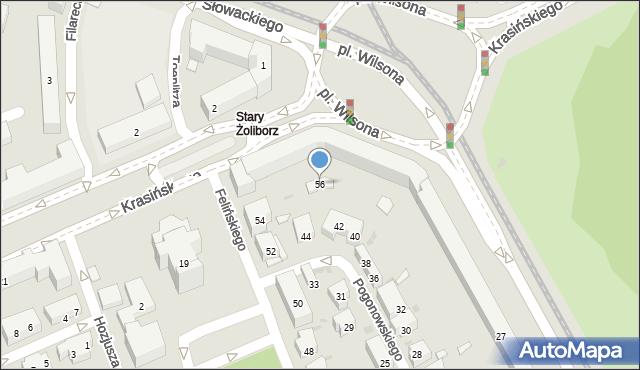 Warszawa, Felińskiego Alojzego, 56, mapa Warszawy