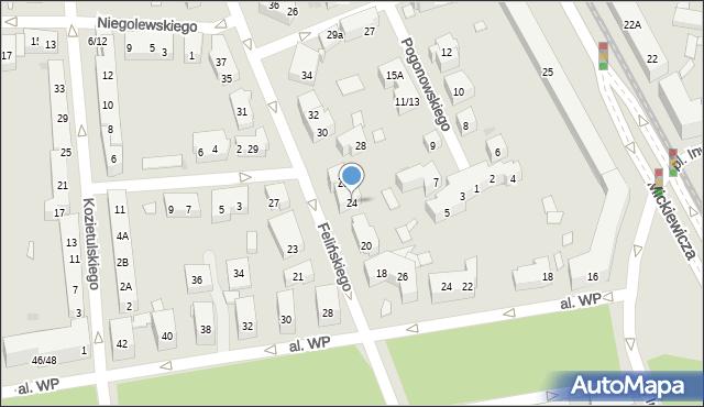 Warszawa, Felińskiego Alojzego, 24, mapa Warszawy