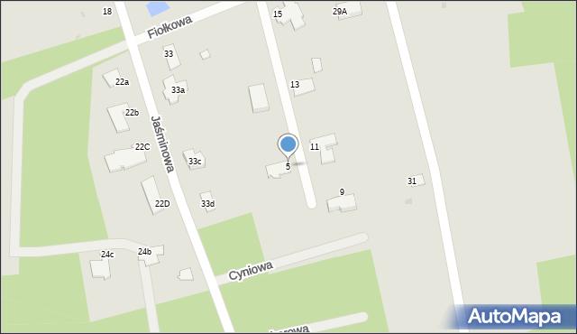 Grudziądz, Fiołkowa, 5, mapa Grudziądza