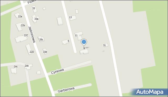 Grudziądz, Fiołkowa, 9, mapa Grudziądza