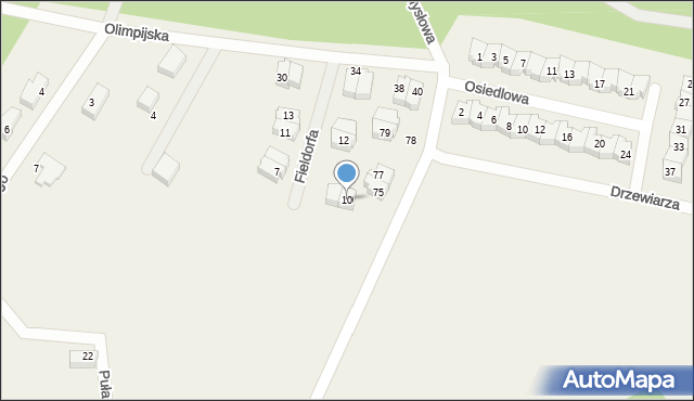 Luzino, Fieldorfa-Nila Augusta Emila, gen., 10, mapa Luzino
