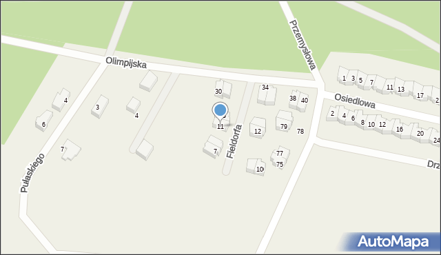 Luzino, Fieldorfa-Nila Augusta Emila, gen., 11, mapa Luzino