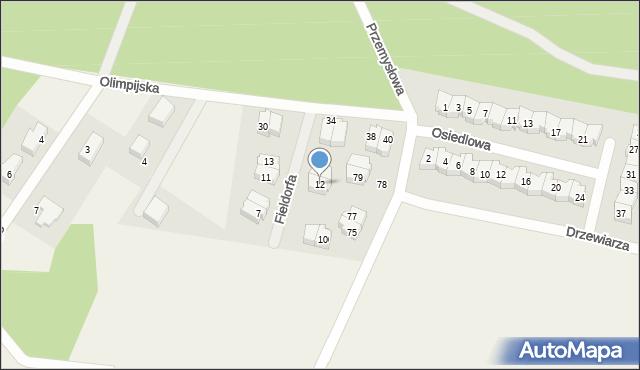 Luzino, Fieldorfa-Nila Augusta Emila, gen., 12, mapa Luzino