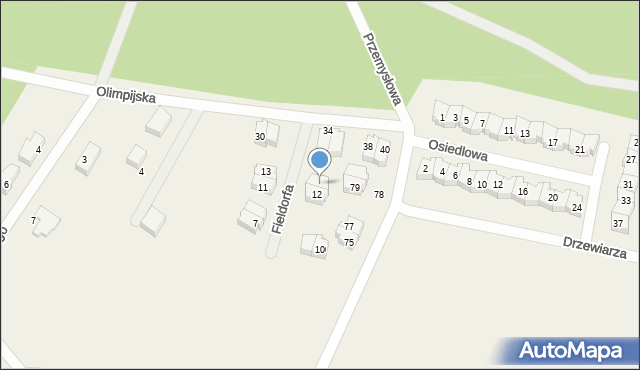 Luzino, Fieldorfa-Nila Augusta Emila, gen., 14, mapa Luzino