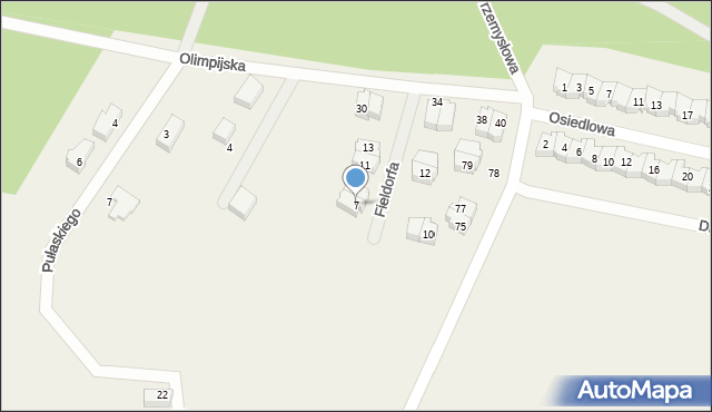 Luzino, Fieldorfa-Nila Augusta Emila, gen., 7, mapa Luzino