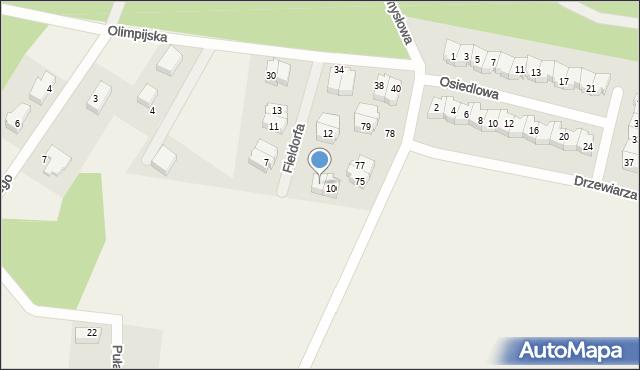 Luzino, Fieldorfa-Nila Augusta Emila, gen., 8, mapa Luzino