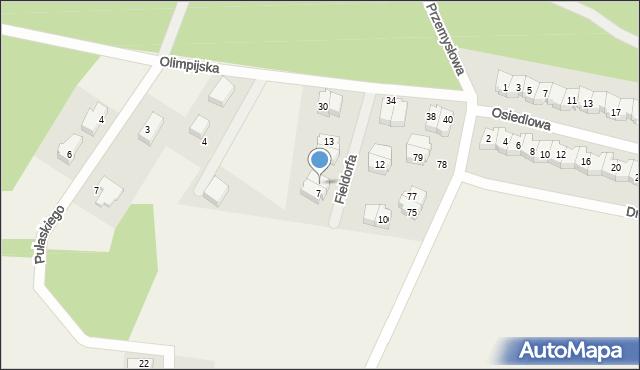Luzino, Fieldorfa-Nila Augusta Emila, gen., 9, mapa Luzino