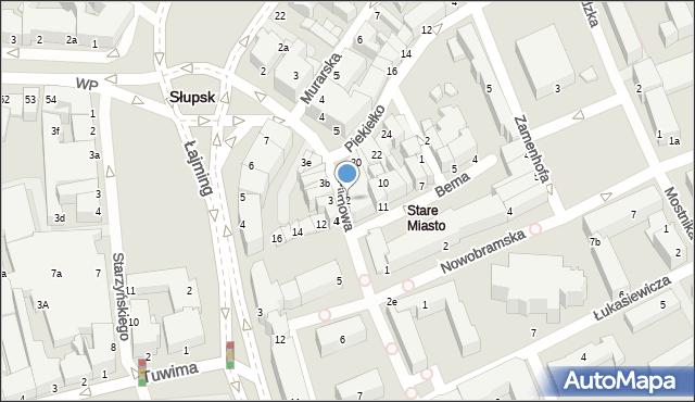 Słupsk, Filmowa, 2, mapa Słupska