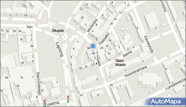 Słupsk, Filmowa, 3b, mapa Słupska