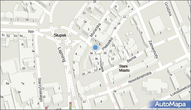 Słupsk, Filmowa, 3d, mapa Słupska