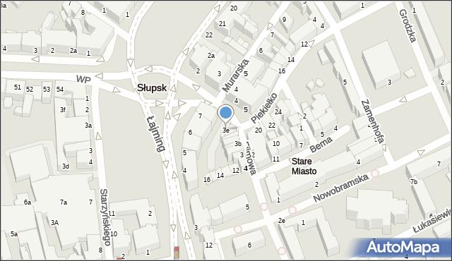 Słupsk, Filmowa, 3e, mapa Słupska
