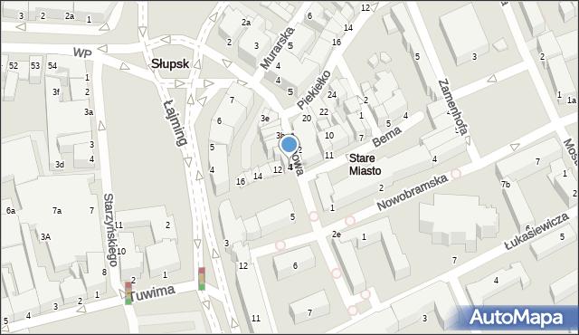 Słupsk, Filmowa, 4, mapa Słupska