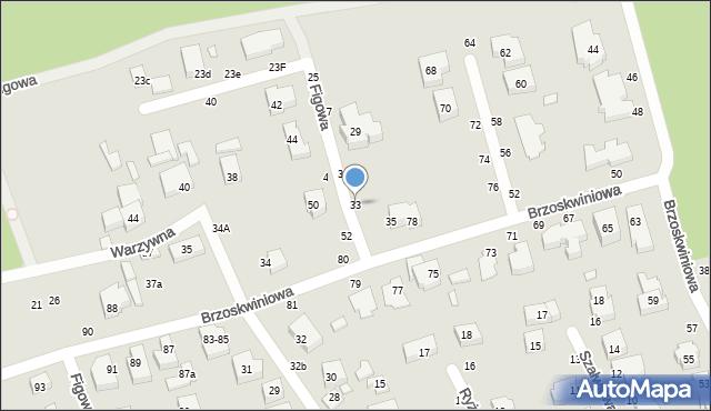 Toruń, Figowa, 33, mapa Torunia