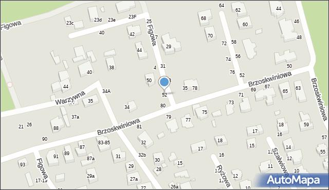Toruń, Figowa, 52, mapa Torunia