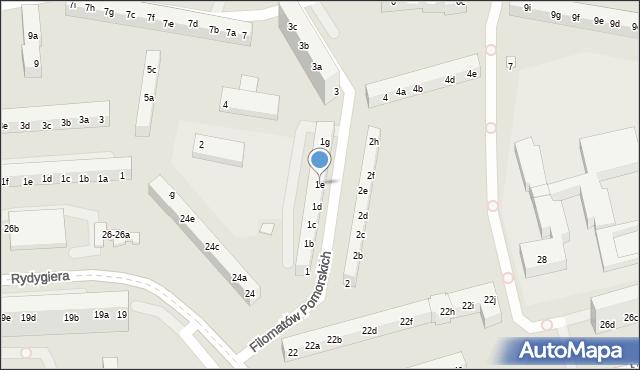 Toruń, Filomatów Pomorskich, 1e, mapa Torunia