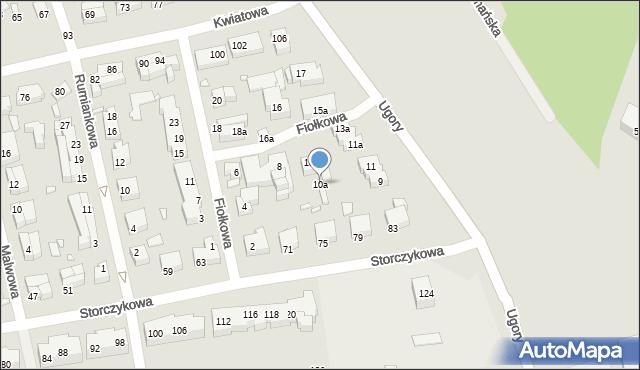 Toruń, Fiołkowa, 10a, mapa Torunia