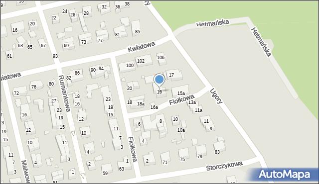 Toruń, Fiołkowa, 16, mapa Torunia