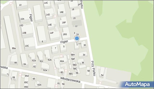 Warszawa, Figiel, 1, mapa Warszawy