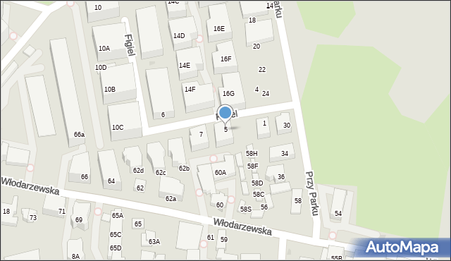 Warszawa, Figiel, 5, mapa Warszawy