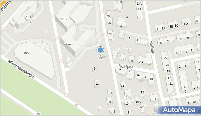 Warszawa, Filipinki, 13, mapa Warszawy