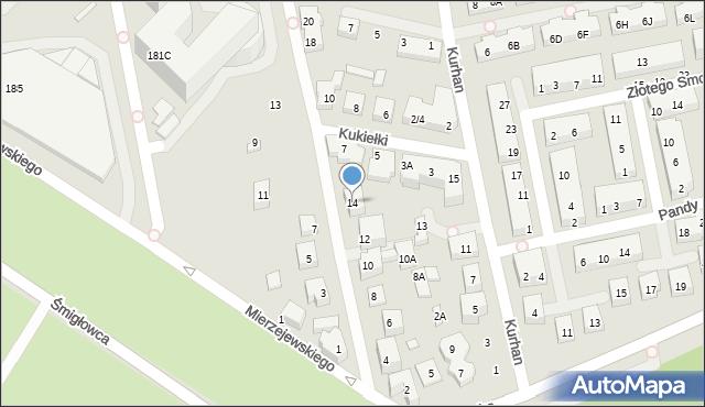 Warszawa, Filipinki, 14, mapa Warszawy