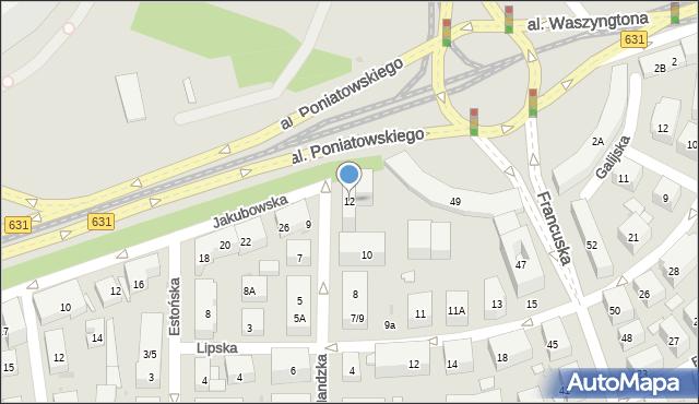 Warszawa, Finlandzka, 12, mapa Warszawy